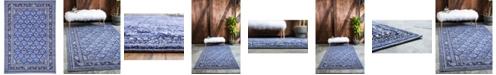 Bridgeport Home Aldrose Ald2 Blue 7' x 10' Area Rug