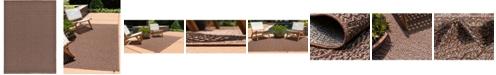Bridgeport Home Pashio Pas6 Brown 7' x 10' Area Rug