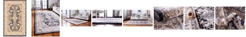 Bridgeport Home Wisdom Wis2 Black 5' x 8' Area Rug