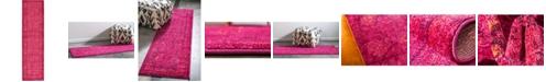 "Bridgeport Home Sana San4 Fuchsia 2' 7"" x 10' Runner Area Rug"
