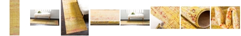 "Bridgeport Home Malin Mal8 Yellow 2' 7"" x 9' 10"" Runner Area Rug"