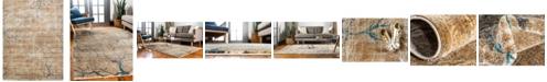 Bridgeport Home Aroa Aro1 Light Brown 10' x 13' Area Rug