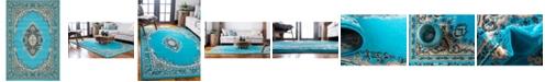 Bridgeport Home Birsu Bir1 Turquoise 6' x 9' Area Rug