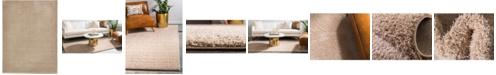 Bridgeport Home Salon Solid Shag Sss1 Taupe 9' x 12' Area Rug