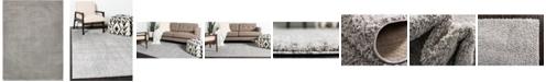Bridgeport Home Salon Solid Shag Sss1 Light Gray 9' x 12' Area Rug