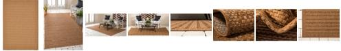 "Bridgeport Home Pashio Pas6 Light Brown 8' x 11' 4"" Area Rug"