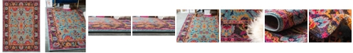 Bridgeport Home Sana San7 Turquoise 9' x 12' Area Rug
