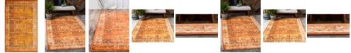 Bridgeport Home Linport Lin1 Terracotta/Ivory 5' x 8' Area Rug