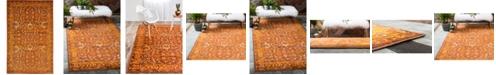 Bridgeport Home Linport Lin3 Terracotta 5' x 8' Area Rug