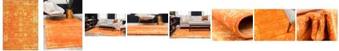 Bridgeport Home Basha Bas1 Orange 4' x 6' Area Rug