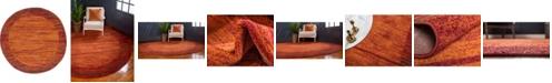 "Bridgeport Home Jasia Jas11 Terracotta 3' 3"" x 3' 3"" Round Area Rug"
