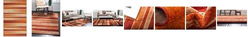 Bridgeport Home Jasia Jas12 Rust Red 5' x 8' Area Rug