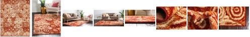 Bridgeport Home Jasia Jas02 Terracotta 8' x 10' Area Rug