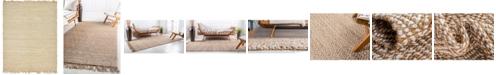Bridgeport Home Braided Tones Brt3 Natural/White 8' x 10' Area Rug