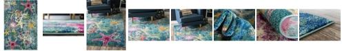 Bridgeport Home Ikbal Ikb1 Navy Blue 4' x 6' Area Rug