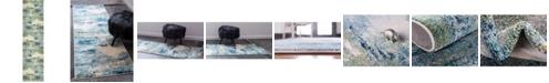 """Bridgeport Home Crisanta Crs7 Light Blue 2' 7"""" x 10' Runner Area Rug"""