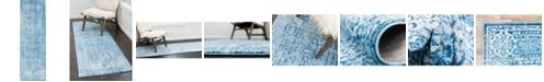 """Bridgeport Home Zilla Zil3 Navy Blue 2' 7"""" x 8' 2"""" Runner Area Rug"""