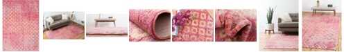 Bridgeport Home Prizem Shag Prz2 Pink 8' x 11' Area Rug