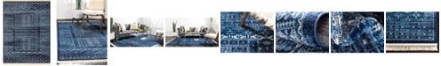 Bridgeport Home Borough Bor4 Blue 9' x 12' Area Rug