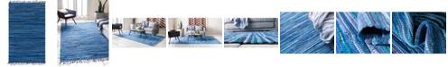 Bridgeport Home Jari Striped Jar1 Navy Blue 4' x 6' Area Rug