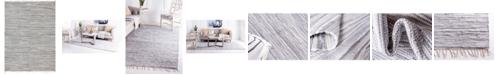 Bridgeport Home Jari Striped Jar1 Gray 9' x 12' Area Rug