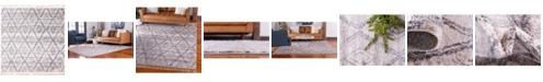"Bridgeport Home Levia Lev2 Beige/Gray 7' 7"" x 7' 7"" Square Area Rug"