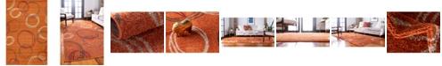 Bridgeport Home Jasia Jas05 Terracotta 5' x 8' Area Rug