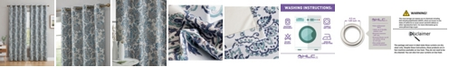 HLC.me Obscura by Darwin Print 100% Blackout Grommet Curtain Panels - 52 W x 63 L - Set of 2