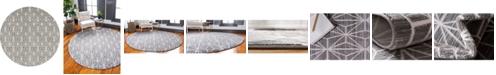 Jill Zarin Fifth Avenue Uptown Jzu002 Gray 8' x 8' Round Rug