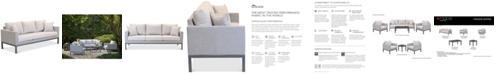 Furniture Carleese Outdoor Sofa with Sunbrella® Cushions