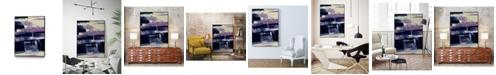 "Giant Art 14"" x 11"" Violet Fusion I Art Block Framed Canvas"