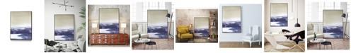 "Giant Art 36"" x 24"" Amethyst Sea I Art Block Framed Canvas"