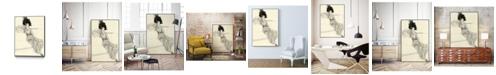 "Giant Art 36"" x 24"" Feather Hat I Art Block Framed Canvas"