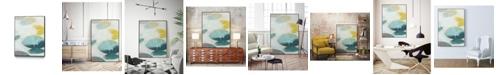 "Giant Art 36"" x 24"" Stacking Stones I Art Block Framed Canvas"