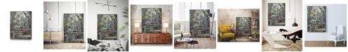 """Giant Art 40"""" x 30"""" Stack IV Art Block Framed Canvas"""