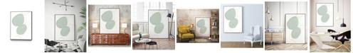 "Giant Art 36"" x 24"" Implied Motif I Art Block Framed Canvas"