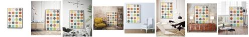 "Giant Art 40"" x 30"" Pattern Interaction II Art Block Framed Canvas"