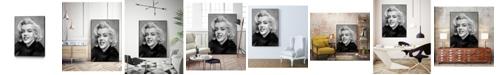 """Giant Art 40"""" x 30"""" Smile Art Block Framed Canvas"""