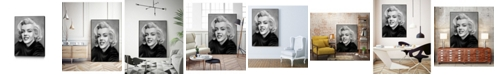 """Giant Art 20"""" x 16"""" Smile Art Block Framed Canvas"""