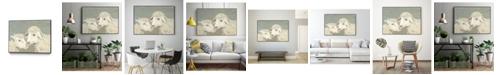 "Giant Art 20"" x 16"" Sweet Lambs II Art Block Framed Canvas"