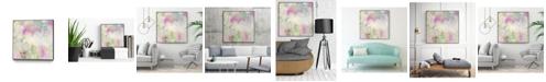 "Giant Art 30"" x 30"" Pastel Swoop I Art Block Framed Canvas"