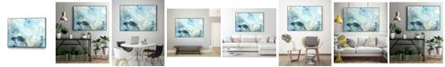 "Giant Art 28"" x 22"" Aqua Wave Form II Art Block Framed Canvas"