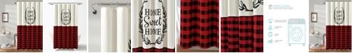 """Lush Decor Home Sweet Home Wreath 72"""" x 72"""" Shower Curtain"""
