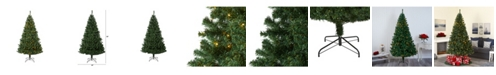 Nearly Natural Northern Tip Pine Artificial Christmas Tree with 400 Clear LED Lights