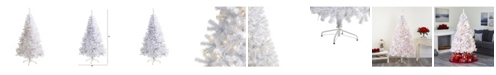 Nearly Natural Artificial Christmas Tree with 680 Bendable Branches and 250 Clear LED Lights