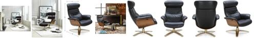 Furniture Annaldo Leather Swivel Chair