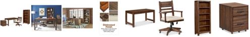 Furniture Avondale Home Office Furniture, 4-Pc. Set (Desk, File Cabinet, Desk Chair & Bookcase)