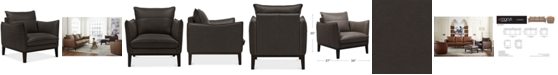 """Furniture Chanute 34"""" Leather Chair, Created for Macy's"""