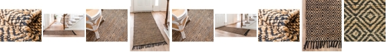 Bridgeport Home Braided Tones Brt3 Natural/Black Area Rug Collection