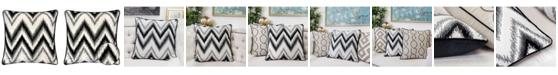Homey Cozy Series Zig Zag Liner Velvet Large Sofa Couch Pillow